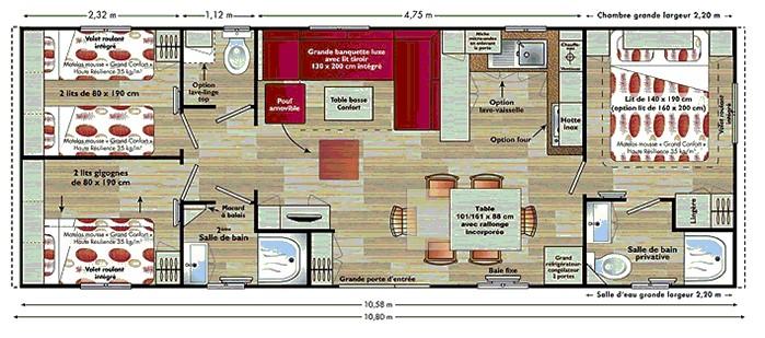 amenagement mobil home mobilhome neuf amnagement. Black Bedroom Furniture Sets. Home Design Ideas